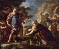 francesco-solimena-david-before-abigail