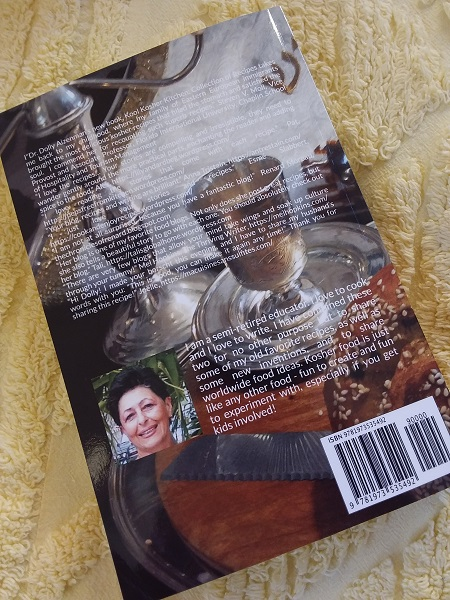 Kool Kosher Kitchen, back cover with picture of author, Doly Aizenman